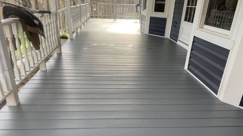 Deck After Repainting