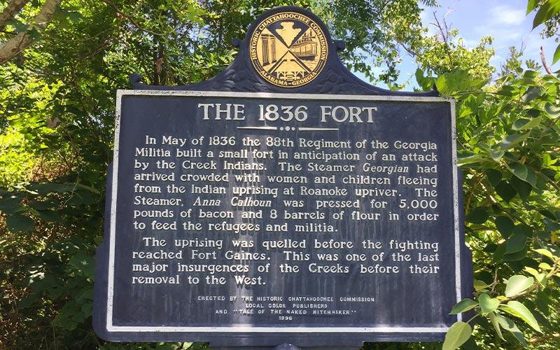 1836 fort sign